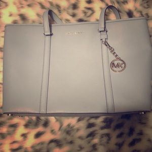 Authentic Michael Kors leather tote.
